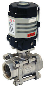 1 1 4 Electric Actuated Ball Valve 110 Vac Stainless Steel new