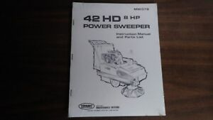 Tennant 42hd 8hp Power Sweeper Instruction Manual Parts List Mm078