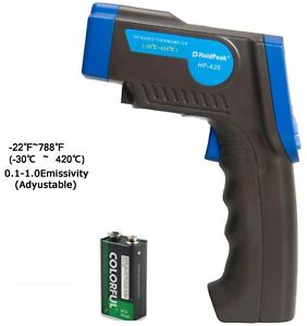 Digital Non contact Temperature Gun Infrared Laser Thermometer 420 Lcd Backlit