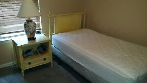 Mid Century Modern Cane Bedroom Suite By John Stuart Inc Citron Yellow