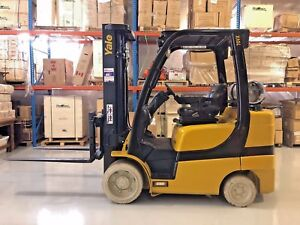 2011 Yale Forklift 7000 Lb With Side Shift Triple Mast