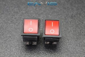 2 Pcs Rocker Switch Dpst On Off Toggle 15 Amp 250v 20 Amp 125v 4 Pin Ec 2604