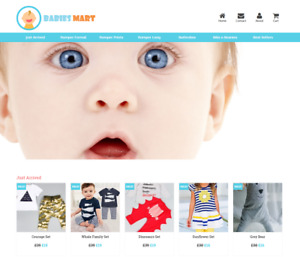 Established Baby Clothes Website Business For Sale Profitable Dropshipping