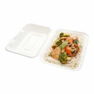 Bagasse Take Out Container Bagasse To Go Box Clamshell Durable All Natural