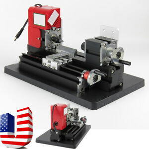 Mini Metal Wood Working Lathe Motorized Machine Diy Tool Metal Woodworking