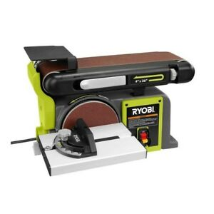 Top Bench Belt Sander Tool-less 4.3 Amp 120V Miter Gauge Workshop Wood Cast Iron