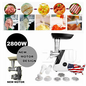 Electric 110v 2800w Meat Grinder Industrial Meats Grind 3 Choice W 4 Plates Usa