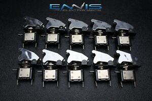 10 Pcs Toggle Switch On Off Rocker Chrome Led 12v 20 Amp Race Nitrous Eps 3015ch