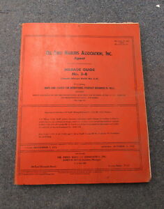 Oil Field Haulers Association Agent No 3 b Milage Highway Guide Manual 1973