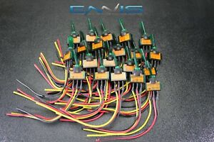 20 Pcs Illuminated On Off Toggle Switch Green Pre Wired 12 Volt 20 Amp Ibitsg