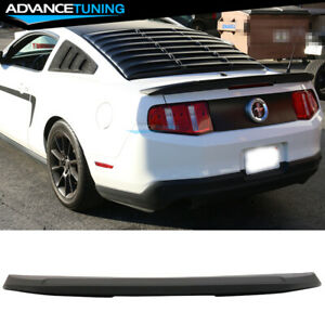 Fits 10 14 Ford Mustang Coupe Shelby Gt V6 Gt500 Style Trunk Spoiler Wing Abs