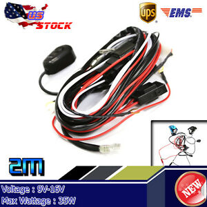 Wiring Harness Kit Line 40a 12v Switch Relay Harness For 2 Led Work Light Bar