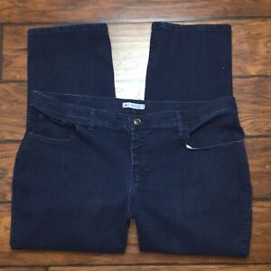 Lee Classic Fit Jeans Size 22W Petite Womens Dark Wash Straight Leg At The Waist