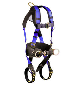 Falltech 7073b Construction Belted Harness With 3 D Rings