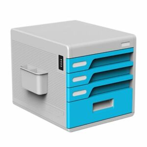 Desktop Drawers Documents Lock Storage Office Organizer Papers Files Box Sturdy