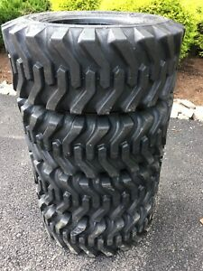 4 New 12 16 5 Skid Steer Tires 12 Ply Rating 12x16 5 for Case Caterpillar