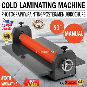 Cold Laminator Manual Roll Vinyl Photo Film Laminating Machine 51 1300mm Us