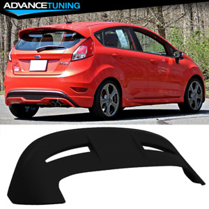 Fits 11 18 Ford Fiesta Hatchback St Style Roof Spoiler Matte Black Abs