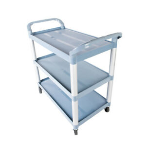 Multipurpose Storage Utility Plastic Cart 3 Layer Structural Foam Plastic Shelf