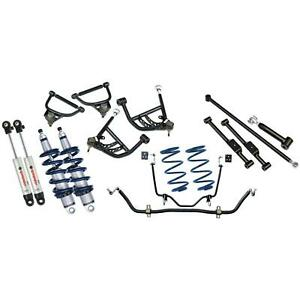 Ridetech 11290210 65 66 Chevy Impala Coil Over Kit Sway Bar 4 Link Control Arms