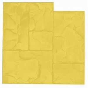 Ashlar Cut Texture Mat Yellow For Stamped Concrete