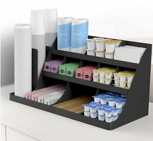 Coffee Supply Organizer Office Supplies Station Breakroom Waiting Room Storage