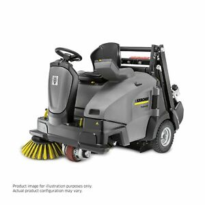 Karcher Km 105 110 Ride On Floor Sweeper W Batteries 3 Brushes Demo Equipment
