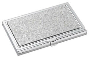 Free Engraved Personalized Silver Business Card Holder Desk Gifts For Office