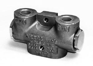 Hydraulic Lock Valve Double 3 8 Ports Made In America