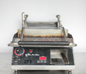 Star Pro Max Sandwich Grill Press 14 Flat Plates Commercial 120 Volt Vac