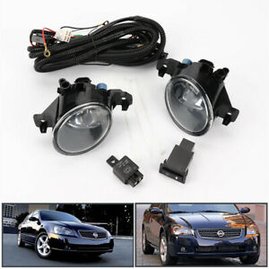 Pair W Switch Clear Front Bumper Fog Lights Lamp For Nissan Altima Jdm 2005 2006
