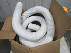 25 Ft Thermoplastic Rubber Industrial Ducting Hose White 4 Id