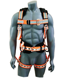 Guardian Fall Protection Reflective Construction Harness With Side D Rings