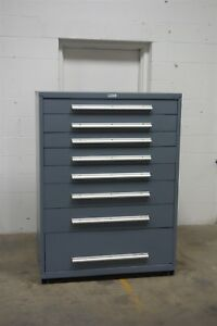 Used Nu era 8 Drawer Cabinet Industrial Tool Storage 45 Wide 1190 Vidmar