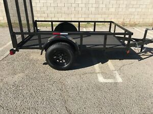 2018 5 x8 x1 Utility Trailer W Composite Floor Read We Manufacture