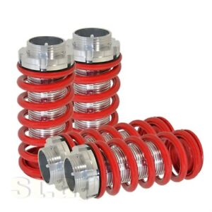 Accord Suspension Jdm Adjustable Coilover Lowering Spring Silver Sleeve Lock Red