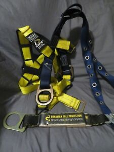 Dbi Sala 1108179 Delta Construction Vest Harness Belt With Guardian Lanyard Xs