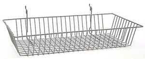 24 X 12 X 4 Baskets For Gridwall slatwall pegboard Chrome 3pk