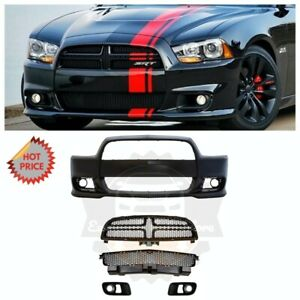 Srt8 Srt 8 Hellcat Style Front Bumper Conversion Kit For 11 14 Dodge Charger