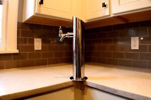 Tap Tower With Faucet And Components For Draft Beer Counter Top Or Kegerator