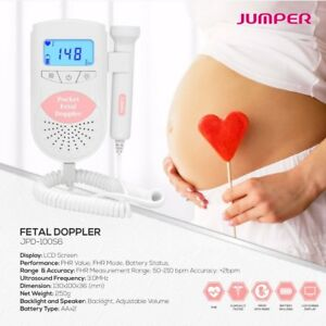 3mhz Baby Heartbeat Monitor Fetal Baby Sound Amplifier With Backlight pink