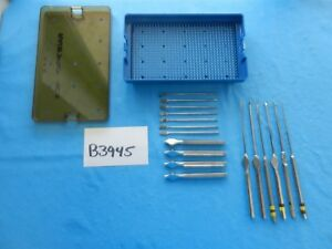 Radionics Surgical Rasp Knife Set W Case