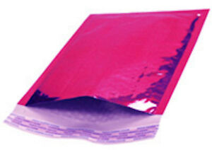2 Metallic Hot Pink Bubble Mailers Padded Envelopes 8 5 X 11 100 Pieces