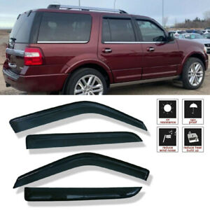 Window Visor Rain Vent Deflector For Ford Expedition 1997 2017 Lincoln Navigator