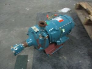 Paco 1x1 1 2 Iron Pump With Us 5hp Motor 124712j Pump Cat lc1070 5 Used