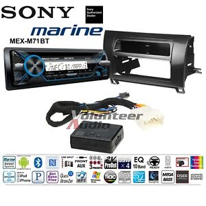 Sony Mex M71bt Single Din Marine Cd Player Dash Install Kit With Bluetooth
