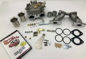 Mga Mgb 40 Dcoe Econ Carburetor Conversion K040 Econ With Jets Air Horns