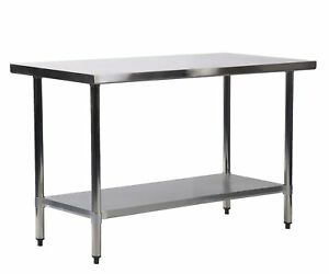 24 X 36 Stainless Steel Kitchen Work Table Commercial Kitchen Restaurant