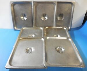 Dura ware Sugico Half size Steam Pan Lids Lot Of 7