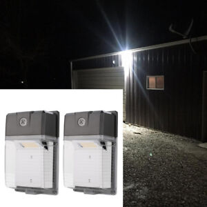 2 Pcs Dusk To Dawn Led Wall Pack Lights 20w 200w Equivalent 5000k Daylight